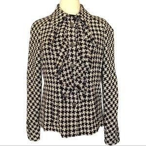 CHANEL Silk Tweed Houndstooth Jacket